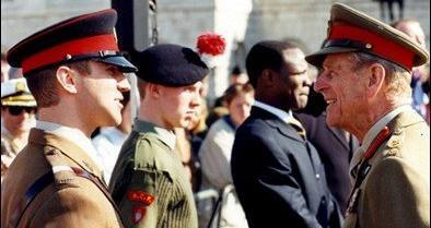 Pictured with Prince Philip, PR for the ACF