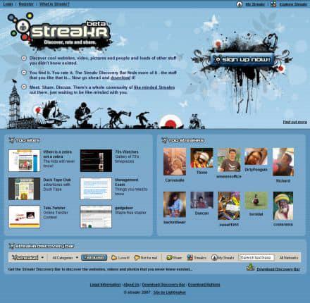 Streakr social network