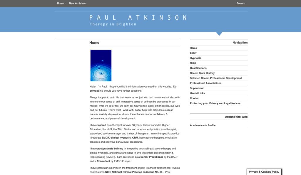 Paul Atkinson, Brighton Hypnotherapist and EMDR Specialist
