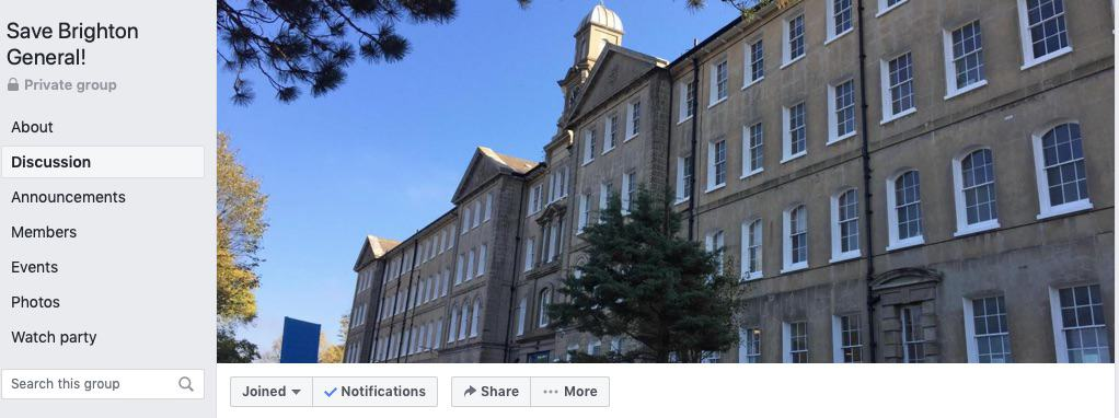 Save the Brighton General Hospital Facebook Group